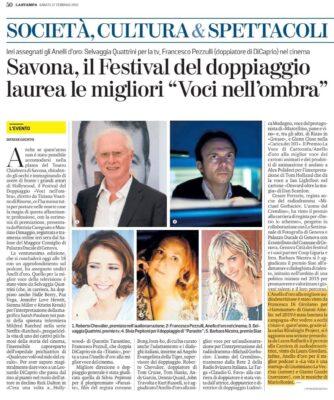 la Stampa - Premiazione Laura Giordani